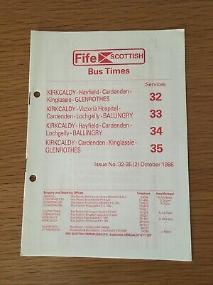 £1.99 • Buy Fife Scottish, October 1986 Timetable, Services 32/33/34/35.