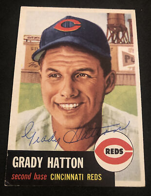 AU5.07 • Buy 1953 Topps #45 Grady Hatton SIGNED Autograph Card (d.2013) REDS Beautiful EX!