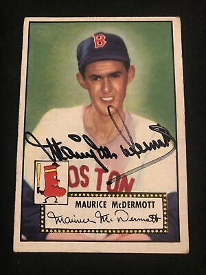 AU6.94 • Buy 1952 Topps #119 Maurice McDermott SIGNED Autograph Card (d.2003) Red Sox NICE!