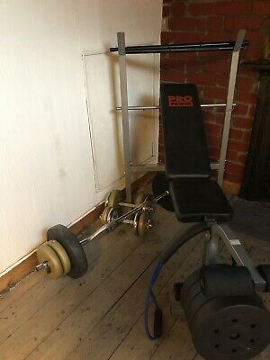 £50 • Buy Pro Power Weight Home Gym Bench Bar Lifting 50KG
