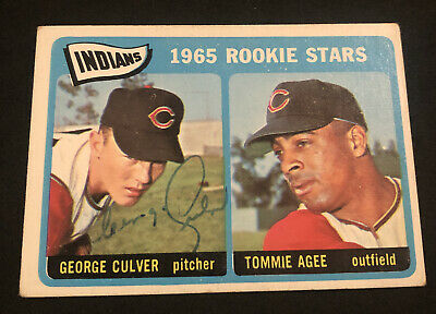 AU1.32 • Buy 1965 Topps #166 Indians Rookie Stars George Culver SIGNED Auto Card! NO RESERVE