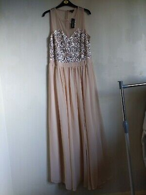 £20 • Buy Brand New River Island Formal Sequin Maxi Dress Pale Pink/ Peachy Colour. Prom/