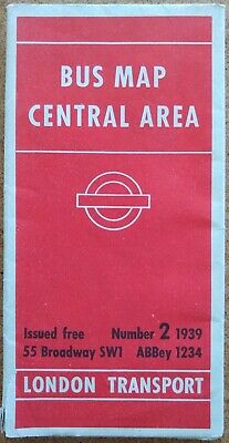 £4.95 • Buy London Transport Bus Map, Central Area, 1939 No. 2