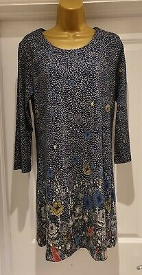 £11.99 • Buy Mistral Blue Floral Tunic Size 12