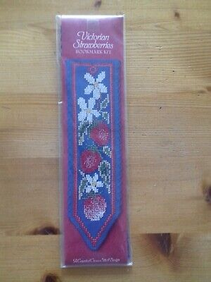 £5 • Buy NEW Victorian Strawberries Bookmark Cross Stitch Kit Textile Heritage Collection