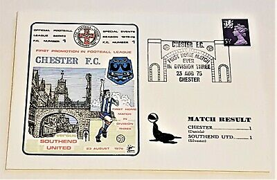 £2.99 • Buy Chester FC First Home Match In Division Three 1975 Commemorative Cover
