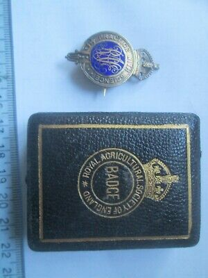 £14.99 • Buy Pre WWII? John Pinches Royal Agricultural Society England Enameled Badge Boxed