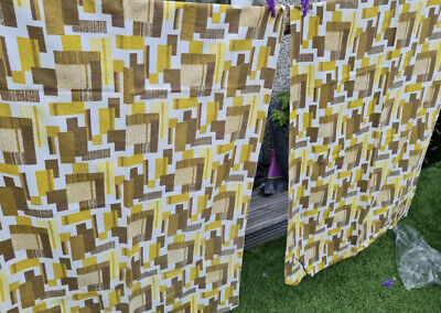 £20 • Buy Vintage 60/70s Retro Curtains, 4 Fabric Panels ,defects ,crafts, Fabric Harvest