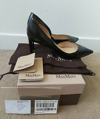 £27 • Buy Max Mara Authentic Painted Pumps Leather Heels  With Box Bag Tags Size 6 Black