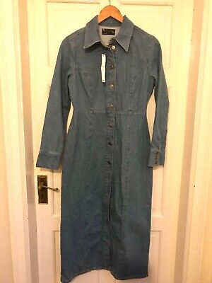 £24.99 • Buy ASOS Denim Midi Dress Size 10 Perfect For Autumn And Winter