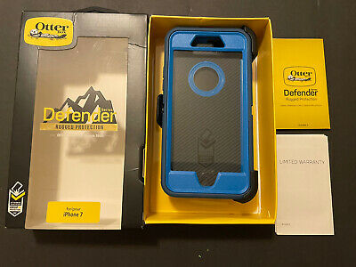£5.64 • Buy OtterBox DEFENDER SERIES Case W/clip For IPhone 7 BLAZER BLUE/STORMY SEAS BLUE