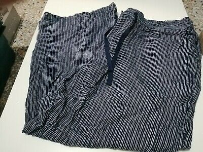 £4.60 • Buy Next Linen Blend Collection 22R Navy Striped Trousers, BNWT