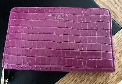 £45 • Buy Aspinal Of London Midi Continental Purse In Pink Patent Croc