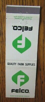 £3.04 • Buy Farm Related: Felco Farmers Co-op (ardale, Iowa) Matchbook Matchcover -f8