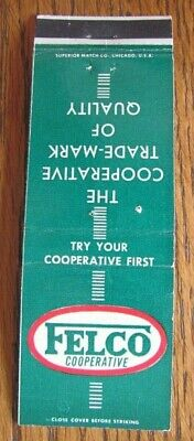 £3.04 • Buy Farm Related: Felco Farmers Elevator Co-op (clarion, Iowa) Matchbook Cover -f8