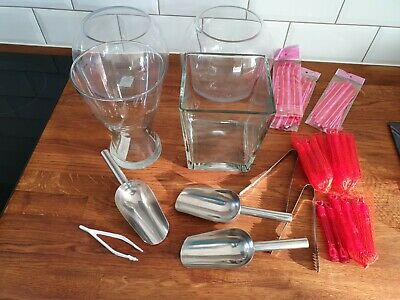 £5 • Buy LOT Glass Jars Fish Bowl Sweets Wedding Party Favours Crafts Buffet Celebration