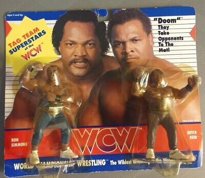 £181.51 • Buy Vintage 1990 Galoob Toys Wcw Tag Team Doom Ron Simmons &butch Reed Moc Very Rare