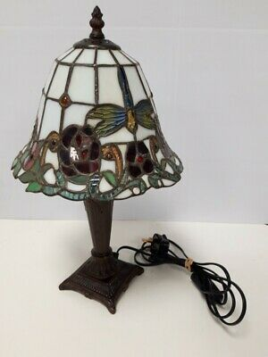 £17 • Buy Tiffany Style Table Lamp Stained Glass Handcrafted Bedside Light Desk Lamps #210