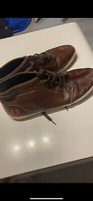 £6 • Buy Fred Perry Brown Leather Mens Shoes Size 10