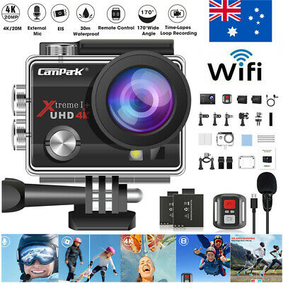 AU69.99 • Buy Campark ACT74 Sport Action Camera 4K 20MP WiFi Waterproof LCD Camcorder As GoPro