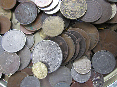 £9.75 • Buy Bulk Foreign And British Old Coins 1.044 Kg