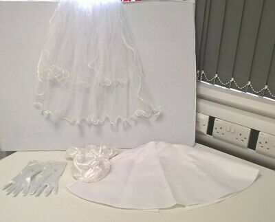 £3.50 • Buy Holy Communion Or Bridesmaids Veil, Cape, Gloves And Bag #285