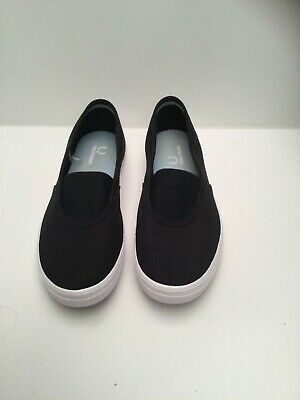 £19.99 • Buy Fred Perry Slip On Mens Canvas Trainers Shoes Plimsolls Black Size 6 Uk
