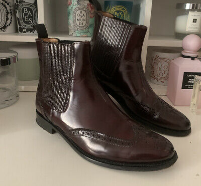£40 • Buy Burberry Ankle Chelsea Boots Size Uk5/ Eu38 Burgundy