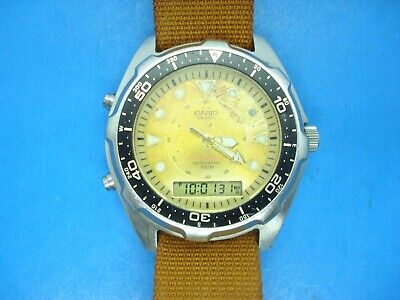 AU11.98 • Buy Vintage Casio  Arnie  Dive Watch--amw 3200--new Battery--yellow Dial