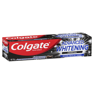 AU12.67 • Buy Colgate Advanced Whitening Charcoal Toothpaste 170g Fluoride Whiter Teeth