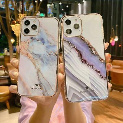 AU8.95 • Buy ShockProof Marble Silicon Hard Back Phone Cover Case For IPhone 11 12 Pro Max XR