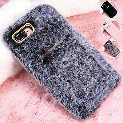£4.99 • Buy Girls Soft Warm Plush Fluffy Phone Case Cover Comfy Faux Fur For IPhone 6 XS Max