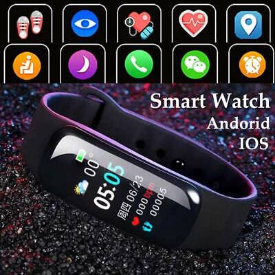 AU17.98 • Buy Waterproof Smart Watch Heart Blood Pressure Rate Fitness For IPhone Android👍👍