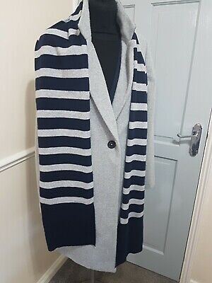 £0.99 • Buy Pure Collection Pure Cashmere Blue Grey Stripe Scarf