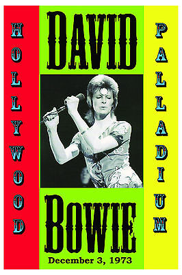 $12 • Buy David Bowie As Ziggy Stardust At Hollywood Palladium Concert Poster 1973  12x18