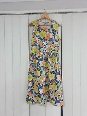 AU22 • Buy ASOS Floral Textured Midi Dress. Size UK 16 (14-16). Fit & Flare. Stretch.