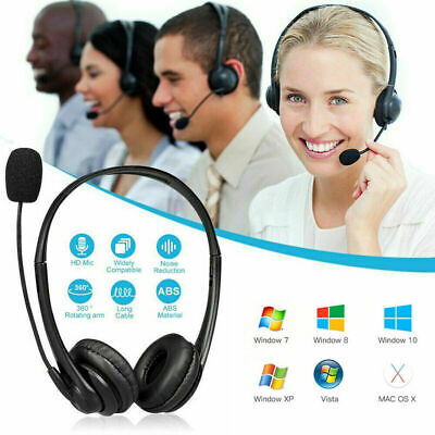 £10.99 • Buy USB Wired Call Center Headset Noise Cancelling Headphone With Microphone MIC UK