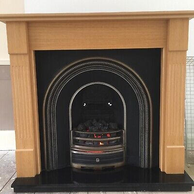 £250 • Buy Georgian/Victorian Style Cast Iron Arch Fireplace Suite With Granite Hearth