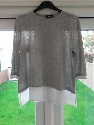 £3 • Buy Size 14 Wallis Shiny Silver Top With A Tiny Pull On The Back As Shown In Photos
