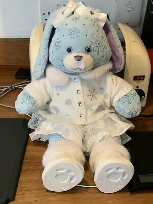 """£10 • Buy Build A Bear Worksho Blue Sparkle Snowflakes Bunny 18"""" Snow Rabbit With Outfit"""