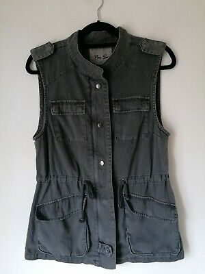 £12 • Buy Womens Army Style Long Waistcoat - Green/Grey - By Per Se -New Without Tags - M-