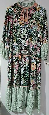 £1.99 • Buy Womens Random Floral Print Tiered Oasis Dress Size 10