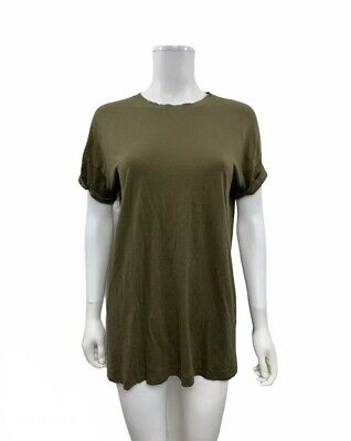 AU17.88 • Buy Bershka Women's Size XS Over Size Style Short Sleeve Solid Green T Shirt