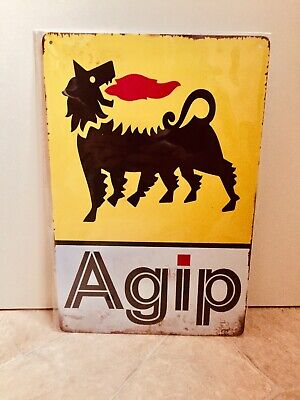 £12 • Buy Agip Racing Vintage Retro Metal Advertising Sign For Man Cave, Shed, Bar #1165