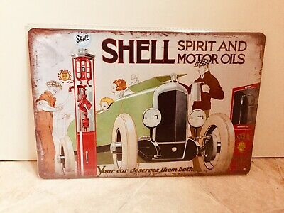 £12 • Buy Shell Oils Vintage Retro Metal Advertising Sign For Man Cave, Shed, Bar #1166