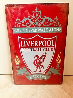£12 • Buy Anfield Vintage Retro Metal Advertising Liverpool Sign For Man Cave, Bar #1174