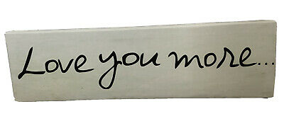 £17.35 • Buy Love You More... Canvas Wall Art Beige Louise Carey By Artissimo Designs