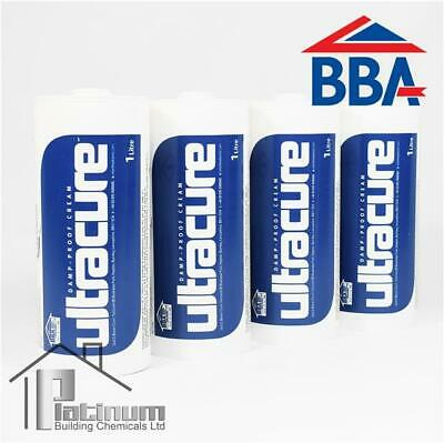 £64.80 • Buy ULTRACURE DPC Injection Cream 4 X 1L | Damp Proof Course Rising Damp Treatment