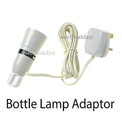 Bottle Lamp Adaptor With Flex And Plug 13A **FREE SHIPPING** • 5.99£