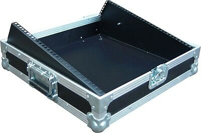 8U 19  Sloped Rack Mount Mixer Swan Flight Case (Hex) • 170.05£